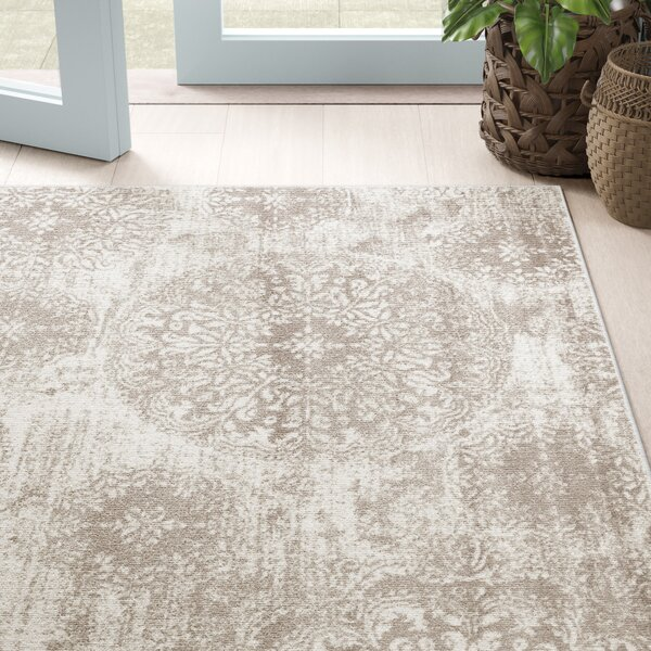 Mistana Brandt Floral Light Gray Area Rug Reviews Wayfair