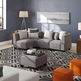 Trini 49 Reversible Modular Sectional with Ottoman by Ebern Designs