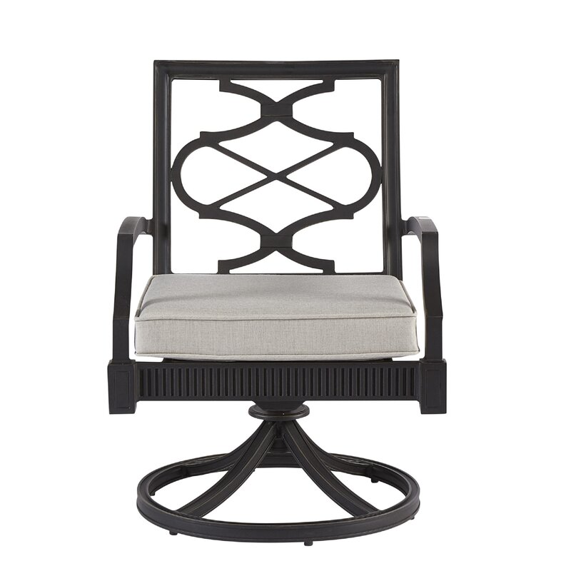 Canora Grey Euston Swivel Patio Dining Chair with Cushion