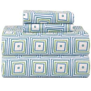 Celeste Home Ultra Soft Flannel Matrix Cotton Sheet Set