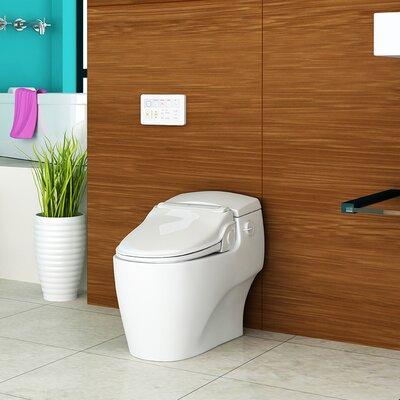 """Supreme Advanced Toilet Seat Bidet Bio Bidet Finish: White, Size: 7.28"""" H x 18.7"""" W x 19.4"""" D"""