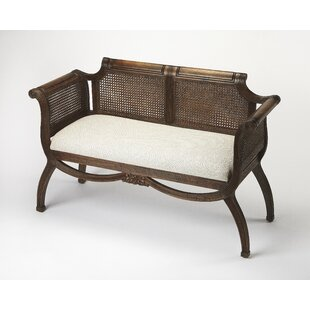 Hewson Rattan Entryway Bench by Bloomsbury Market