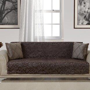 Acacia Anti-Slip Pet Furniture Protector Box T-Cushion Sofa Slipcover by Red Barrel Studio