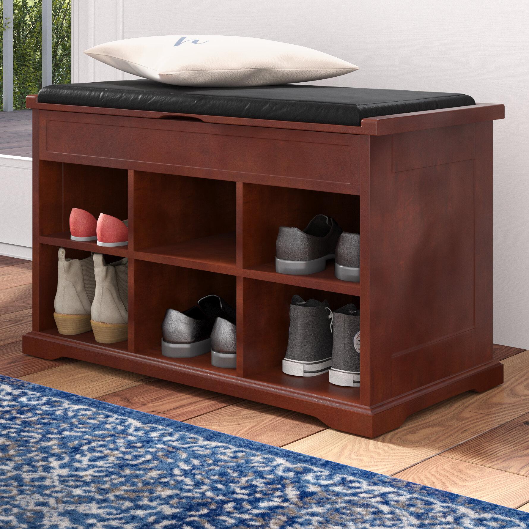 Charlton Home Barrentyne 6 Pair Shoe Storage Bench Reviews Wayfair