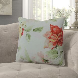 Lott Delicate Floral 100% Cotton Throw Pillow