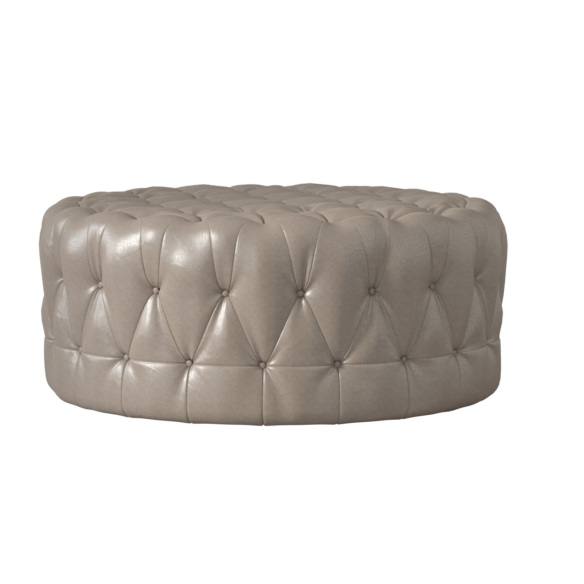 tufted by shipping q today overstock round cocktail home knightsbridge ottoman inspire casters with garden product free artisan