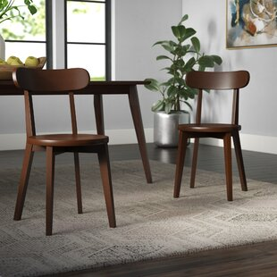 Avey Solid Wood Dining Chair (Set of 2) Wrought Studio