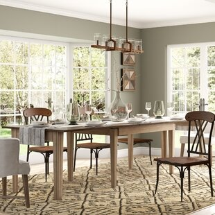 Huerfano Valley Extendable Solid Wood Dining Table Loon Peak