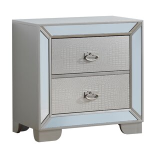 Everly Quinn Jemma 2 Drawer Nightstand