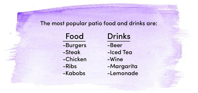 patio food and drinks
