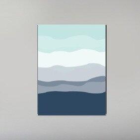 Ebern Designs Mint Navy Abstract Poster Gallery Graphic Art Wayfair