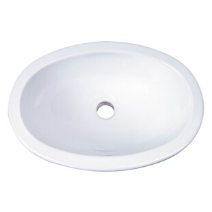 Lily Vitreous China Oval Drop In Bathroom Sink With Overflow