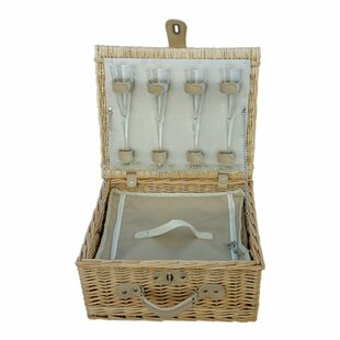 Champagne Fitted Picnic Basket By Brambly Cottage