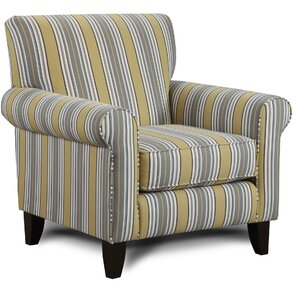 Cargin Striped Armchair by Darby Home Co