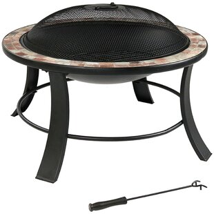 Odelia Steel Wood Fire Pit With Spark Screen
