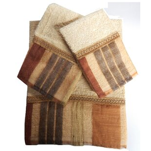 Elisa 3 Piece 100% Cotton Towel Set