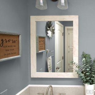 White Washed Oak Vanity Mirror Wayfair