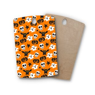 Birchwood Spooktacular Halloween Pattern Cutting Board By East Urban Home