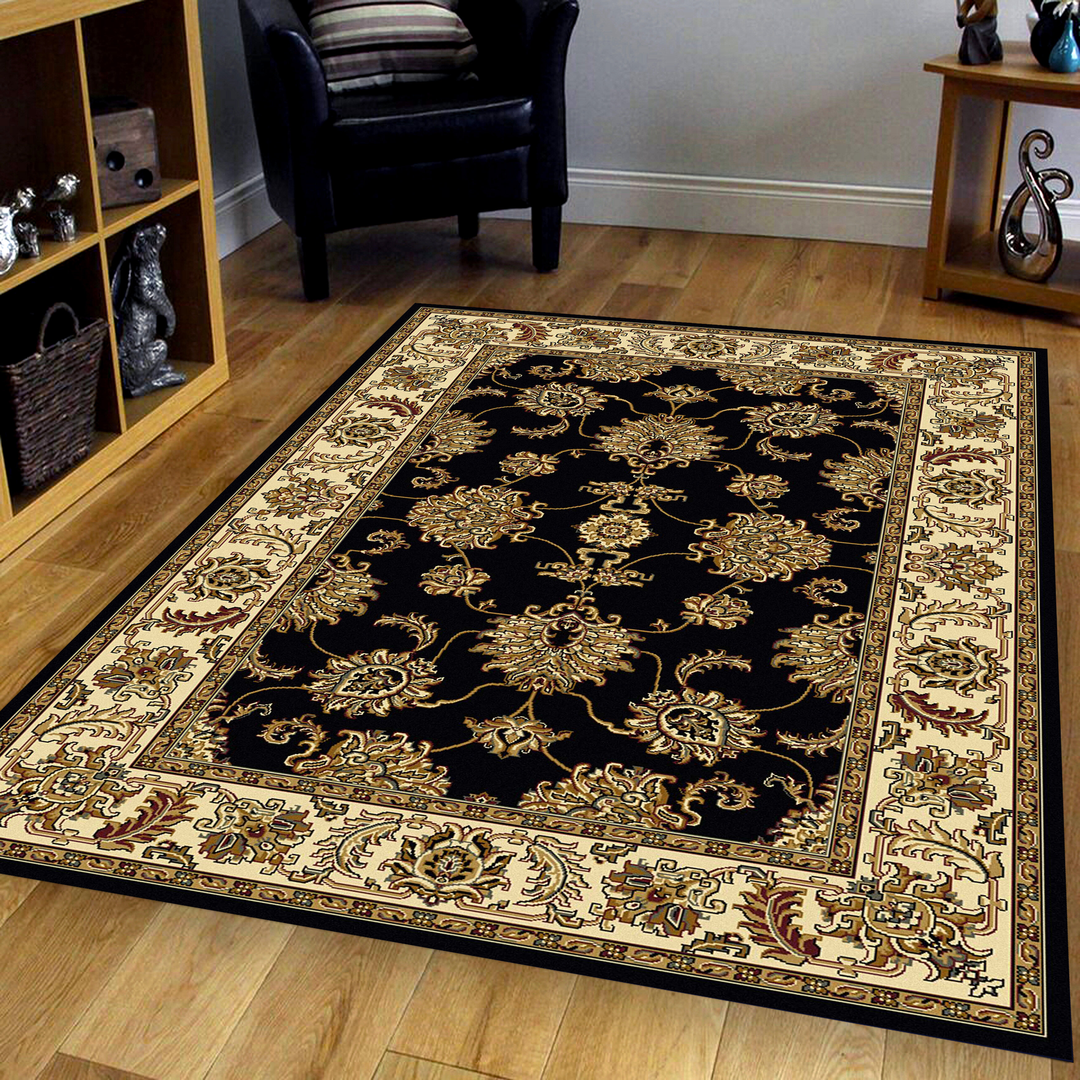 The Conestoga Trading Co Jordan Black Area Rug Wayfair