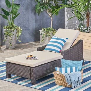 Highland Dunes Hoopes Reclining Chaise Lounge with Cushion