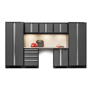 bold 30 series 8 piece garage storage cabinet set with worktop - Locking Storage Cabinet