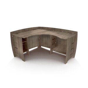Driftwood L-Shape Corner Desk