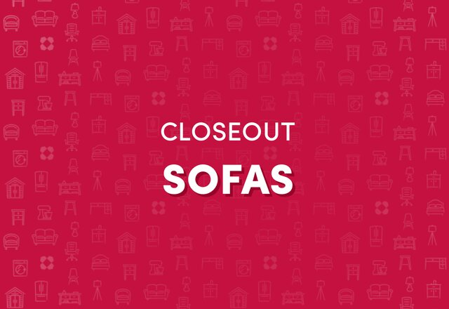 CLOSEOUT Deals on Sofas