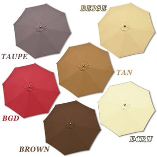 Darby Home Co Rosaura Traditional Octagonal Outdoor Garden Parasol Patio Market Umbrella
