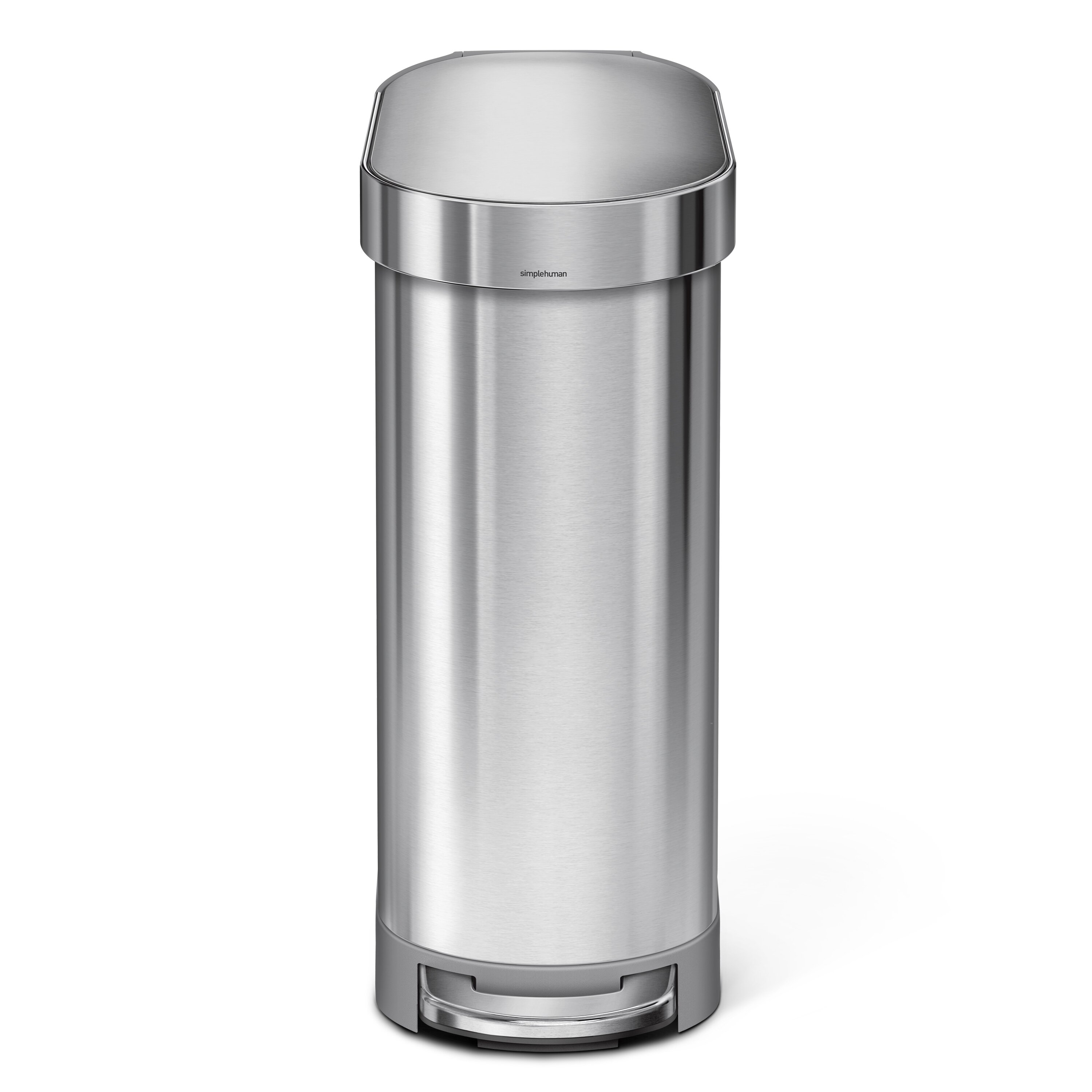 8d542b27b17 simplehuman 45 Liter Slim Step Stainless Steel Trash Can with Liner Rim  Rose   Reviews
