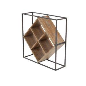 Metal/Wood 4 Bottle Tabletop Wine Rack by Cole & Grey