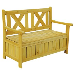 Leisure Season Solid Wood Storage Bench