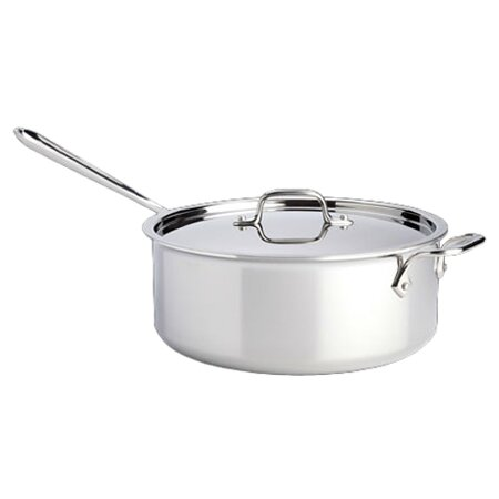 All Clad D3 6 Qt Saute Pan With Lid Amp Reviews Wayfair