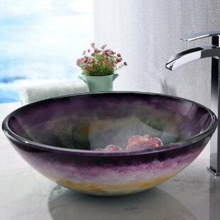 Impasto Glass Circular Vessel Bathroom Sink