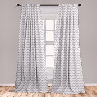 Grey Chevron Curtains Wayfair