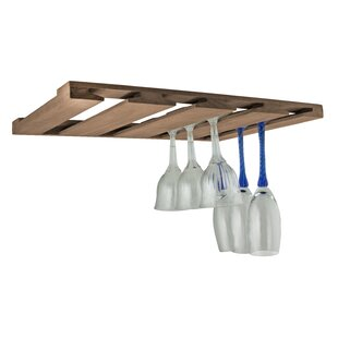 SeaTeak Overhead Hanging Wine Glass Rack