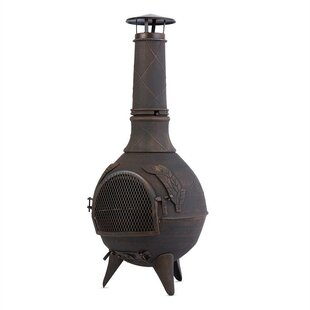 Augustus Cast Iron Chiminea By Blumfeldt