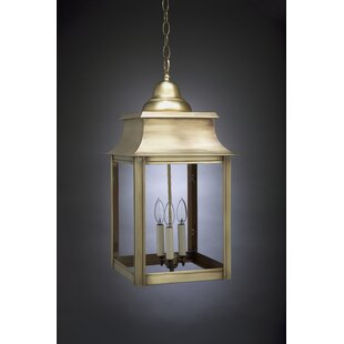 Trend Concord 3-Light Outdoor Hanging Lantern By Northeast Lantern