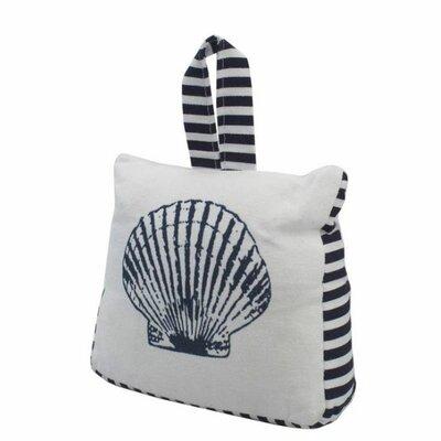 Seashell Sandbag Weighted Floor Stop Handcrafted Nautical Decor