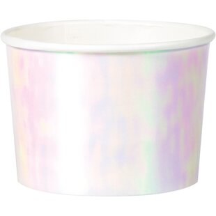 Iridescent Paper Disposable Cup (Set of 24)