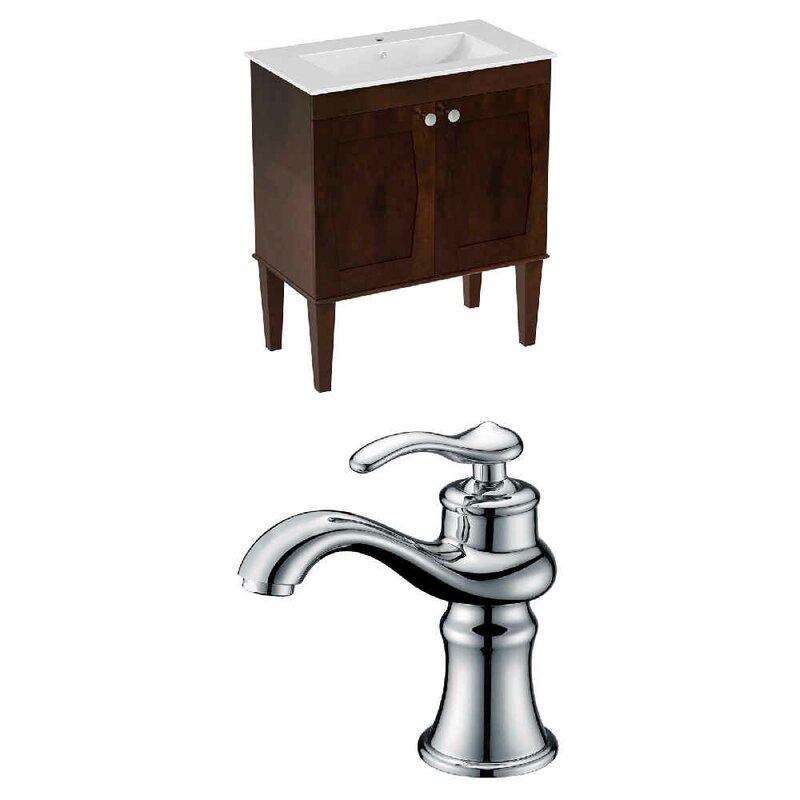 Royalpurplebathkitchen Hindman 25 Wall Mounted Single Bathroom Vanity Set