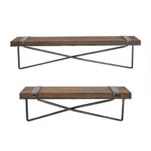 Pieper 2 Piece Wall Shelf Set