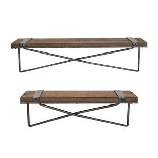 Pieper 2 Piece Wall Shelf Set