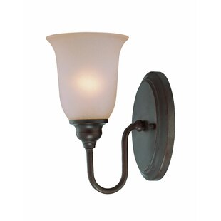 Budget Glover 1-Light Armed Sconce By Winston Porter