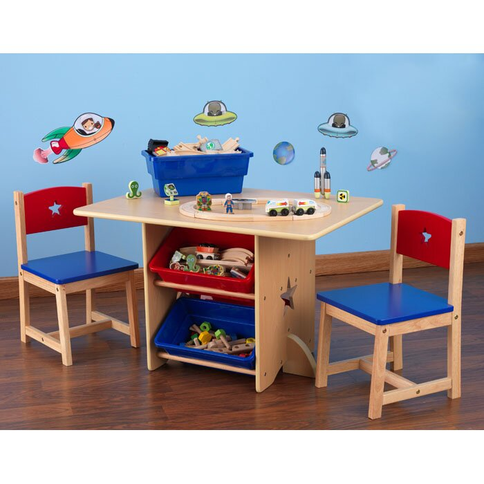 rectangle kids' table & chair sets you'll love | wayfair