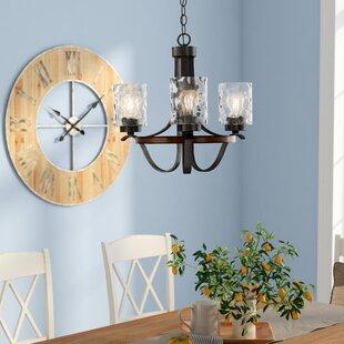 Gracie Oaks Burtondale Indoor 3-Light Shaded Chandelier