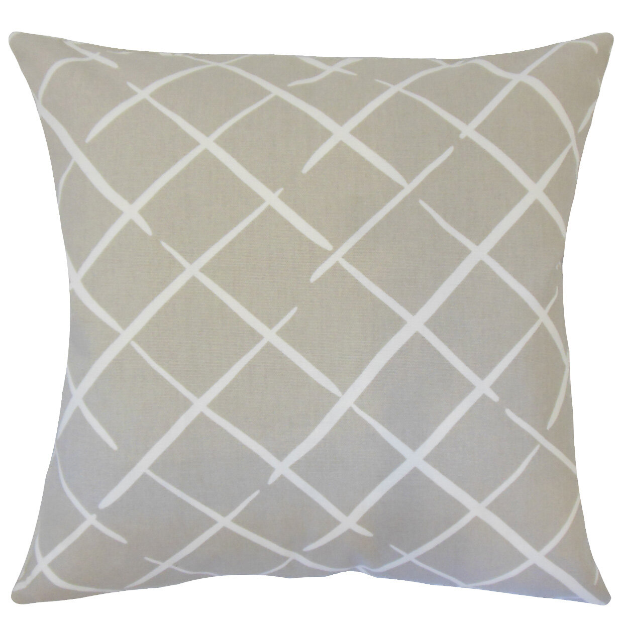 Best Throw Pillow Filling : Orren Ellis Kistner Geometric Down Filled 100% Cotton Throw Pillow Wayfair
