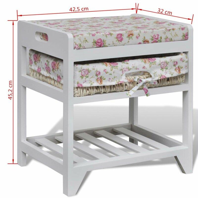 dcor design gepolsterte sitzbank mit stauraum aus holz. Black Bedroom Furniture Sets. Home Design Ideas