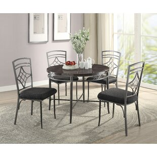 Temperley 5 Piece Dining Set by Red Barre..