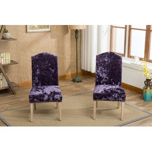 House of Hampton Wokefield Velvet Caen Nail Head Urban Ice Fabric Padded Parson Upholstered Dining Chair