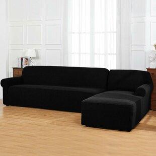 Bolee L-Shaped Jacquard Stretch Box Cushion Sofa And Chaise Lounge Slipcover Set By Winston Porter